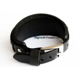 Bracelet en cuir double