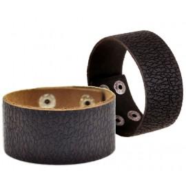 Bracelet de force homme en cuir gras