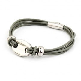 Bracelet homme gris à 4 liens