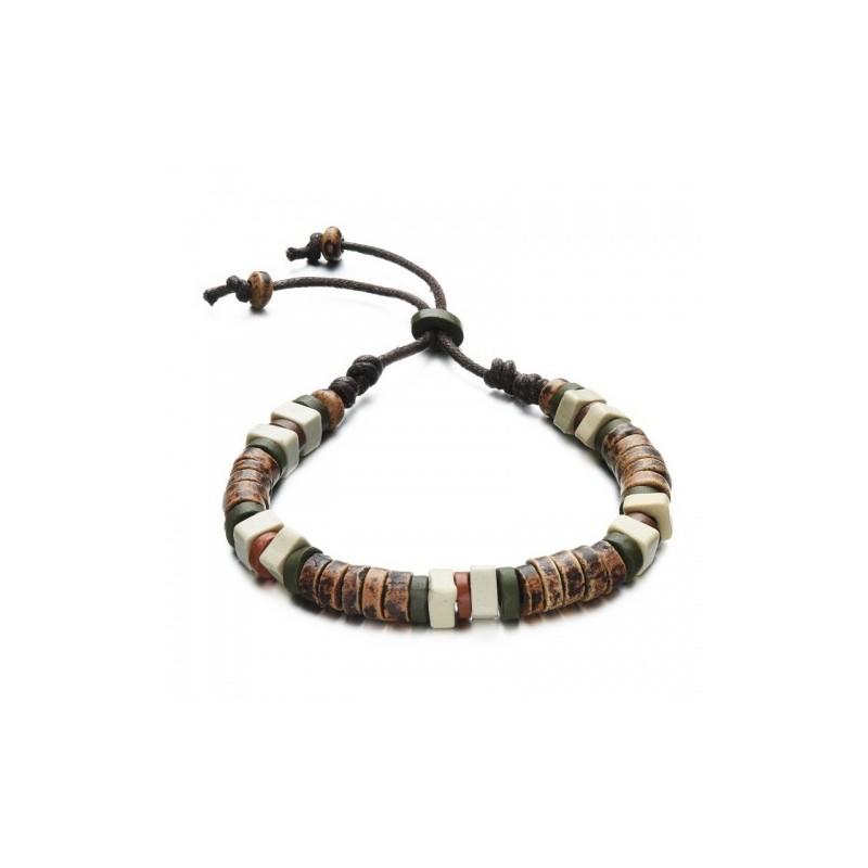 bracelet homme perles de bois naturelles bracelets homme. Black Bedroom Furniture Sets. Home Design Ideas