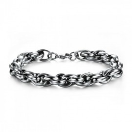 Bracelet homme  chaine maillon en acier inoxydable
