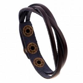 bracelet homme lacets cuir