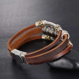 """bracelet homme cuir """"tribal"""""""