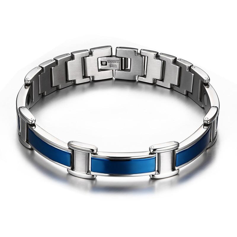 bracelet acier bleu bracelets homme. Black Bedroom Furniture Sets. Home Design Ideas