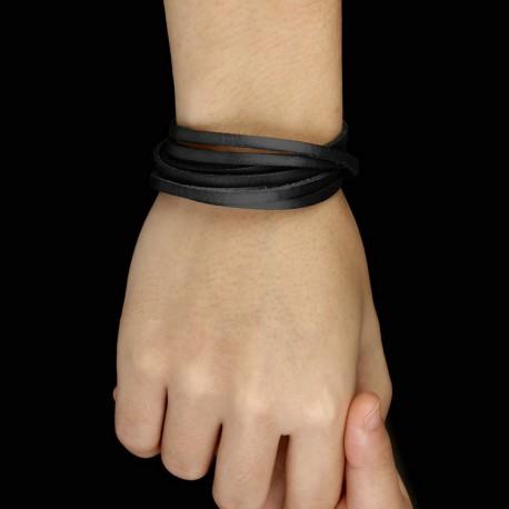 bracelet cuir enroulé
