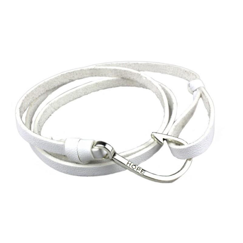 bracelet homme cuir blanc hame on bracelets homme. Black Bedroom Furniture Sets. Home Design Ideas