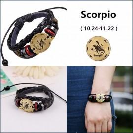 bracelet signe zodiaque scorpion