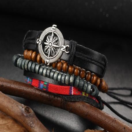 bracelet multicouche vintage