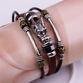 """bracelet tribal """"tête de loup"""""""