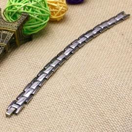 bracelet acier et pierres magnétiques