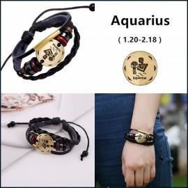 bracelet signe zodiaque verseau