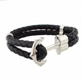 bracelet ancre argentée