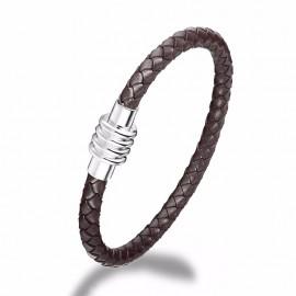 Bracelet cuir tressé