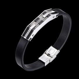 bracelet cuir et cier inoxydable