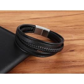 """bracelet cuir """"spécial poignet fort"""" de 25 cm"""