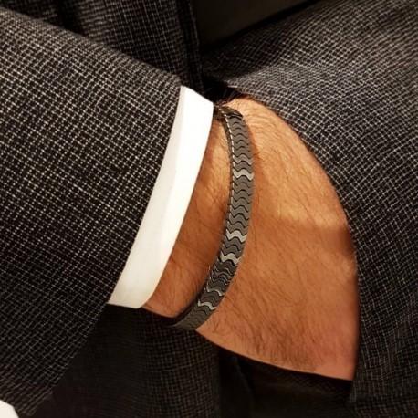 bracelet piéces métalliques 2 tons