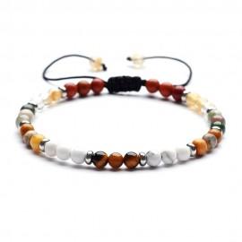 bracelet perles naturelles 4 mm automne
