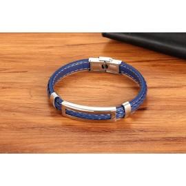 bracelet cuir bleu nuit