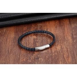 bracelet cuir marron/noir ou bleu/noir