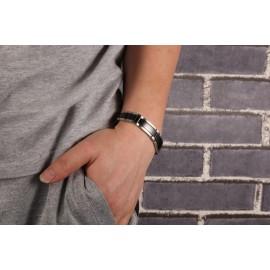 bracelet homme acier inoxydable