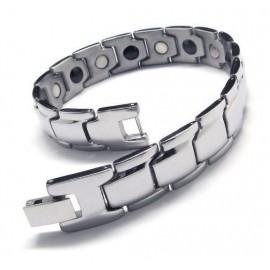 Bracelet en acier brillant