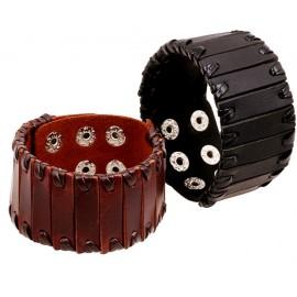 Bracelet de Force Homme en Cuir style gladiateur
