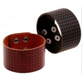 Bracelet de force homme en cuir style punk