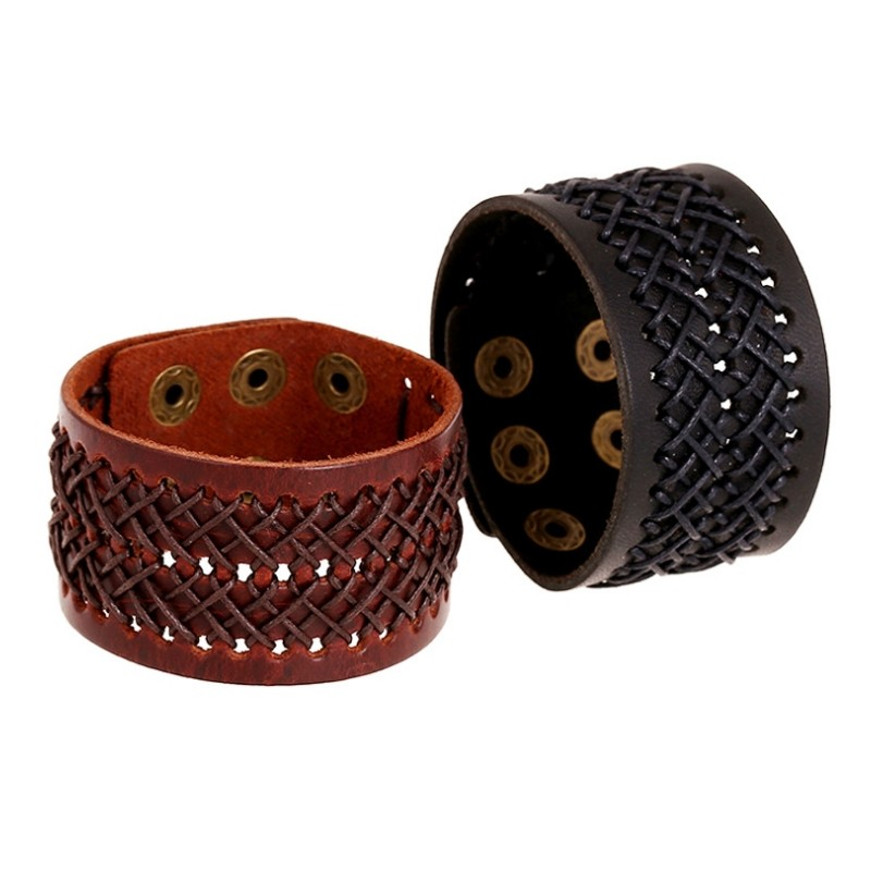bracelet homme cuir manchette