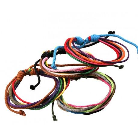 Bracelet couleurs en corde