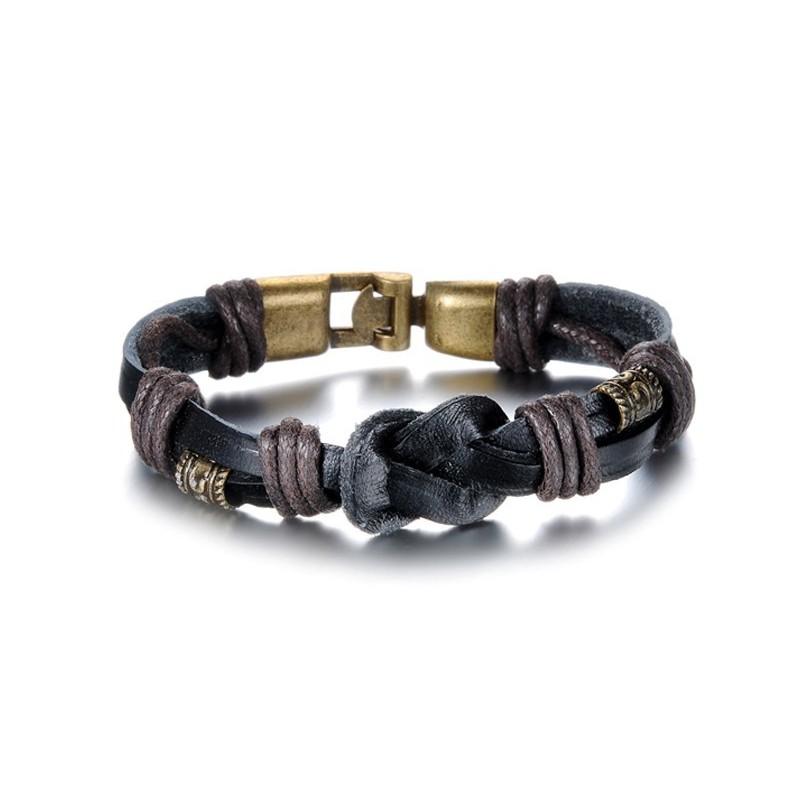Bracelet cuir homme noeud