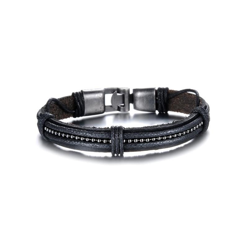 bracelet homme cuir et chaine boule bracelets homme. Black Bedroom Furniture Sets. Home Design Ideas