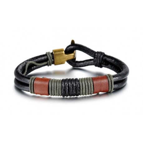 Bracelet homme cordon épais cuir