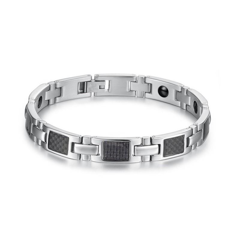 Pierres Magnétiques Bracelet Acier Homme Bracelets Avec m0ON8nwv