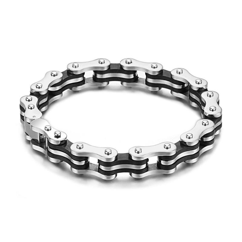 Bracelet Homme Chaine De V 233 Lo Acier Et Silicone