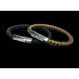 Bracelet cuir véritable rond