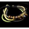 Bracelet homme cuir, corde et breloques
