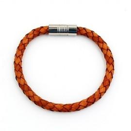 Bracelet homme cuir naturel