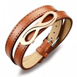 bracelet cuir homme infinity