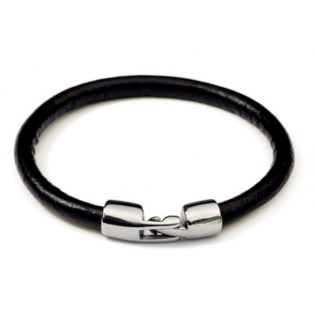 bracelet homme liens cuir rond