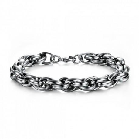Bracelet homme en acier inoxydable bicolore