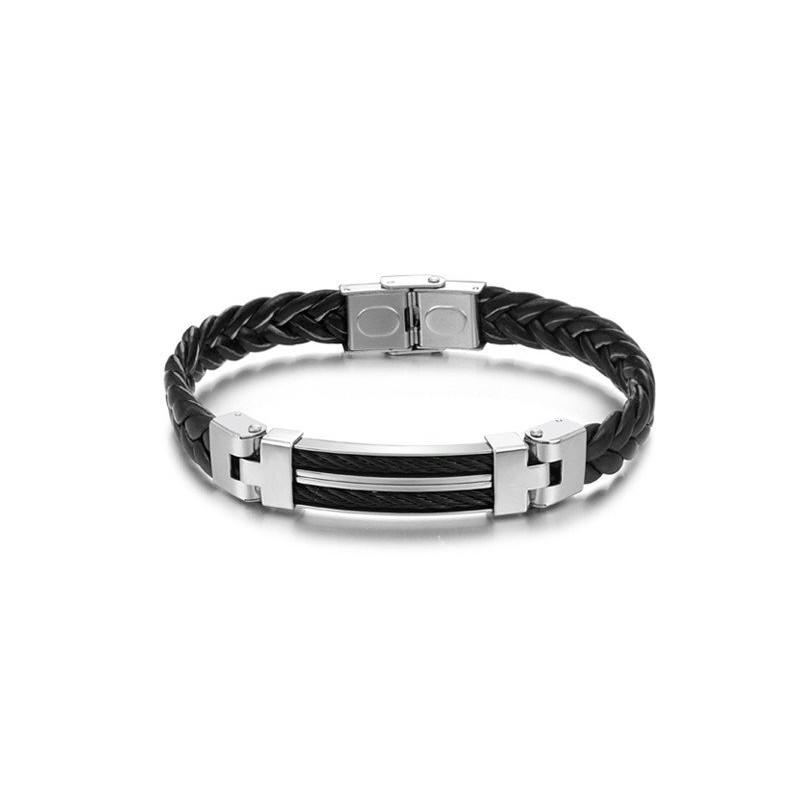 bracelet cuir metal homme