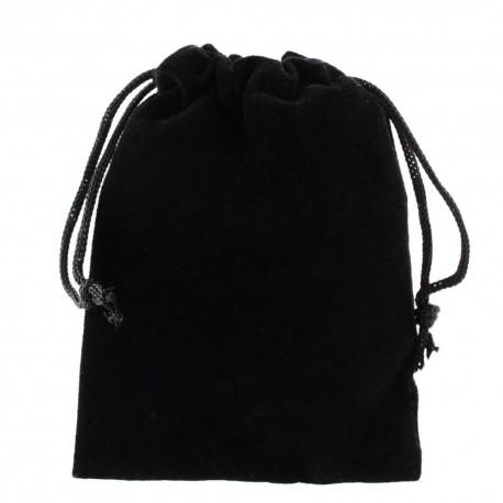 sac en tissu noir pour bracelet