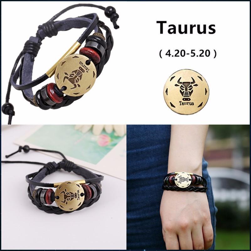 bracelet signe zodiaque taureau , Bracelets Homme
