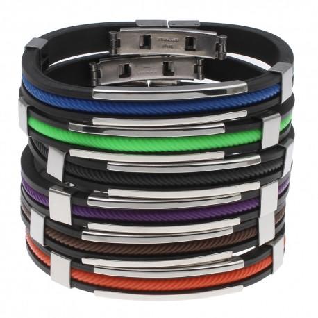bracelet silicone et cable couleur