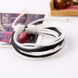 Bracelet homme noir et blanc