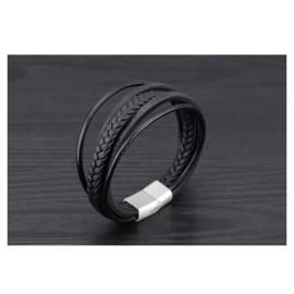 bracelet cuir tressé et laniéres