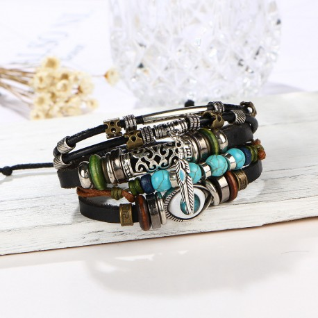 "bracelet multicouche ""karma"""