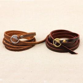Bracelet homme en cuir style hippie noir,brun foncé ou marron