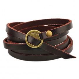 Bracelet homme en cuir style hippie