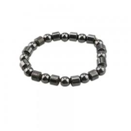 bracelet homme perles magnétiques hématite